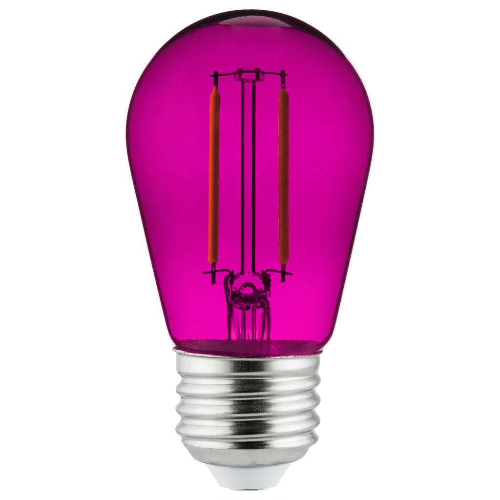SUNLITE 2w Led Filament S14 Sign Transparent Purple Colored Dimmable Light Bulb