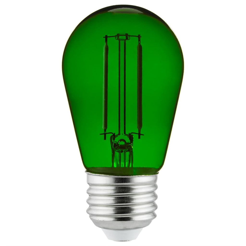SUNLITE 2w LED Filament Transparent Green Colored Bulb