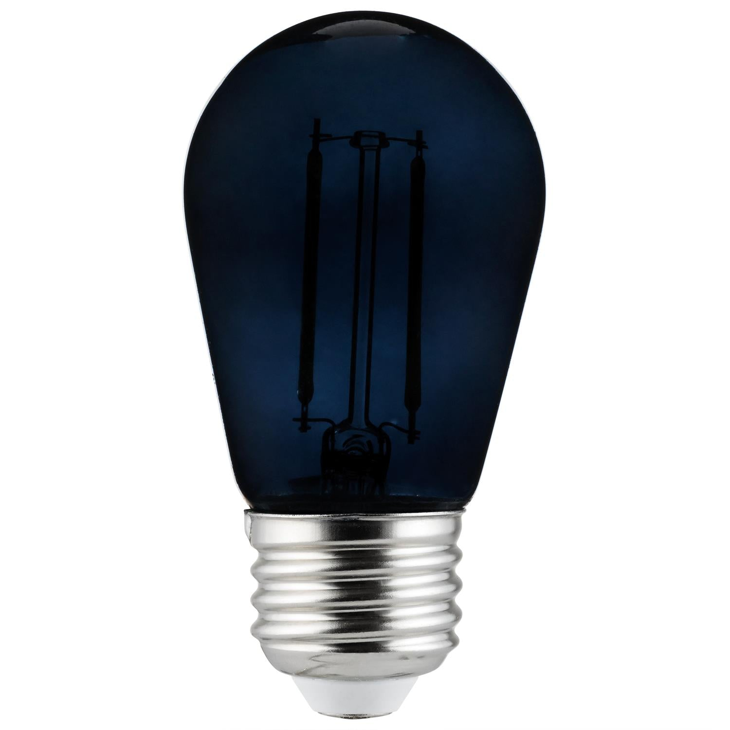 SUNLITE 2w LED Filament S14 Sign Transparent Black Colored Dimmable Bulb