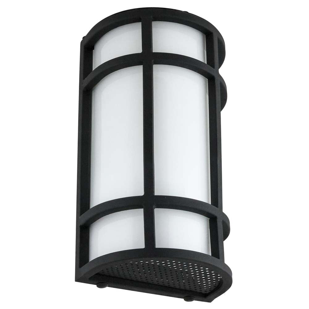 Sunlite 81141-SU 15w LED Mission Style Wall Sconce Black 50K Super White 12 Inch