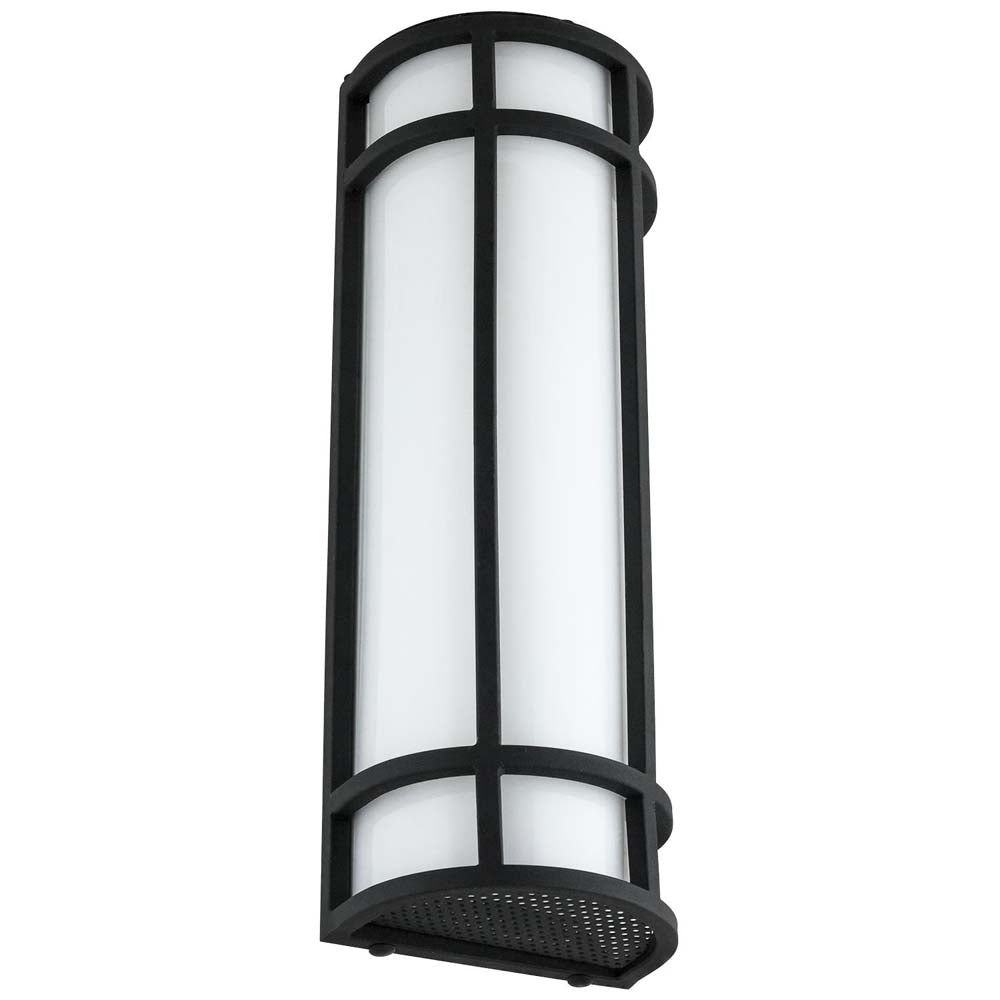 Sunlite 81142-SU 20w LED Mission Style Wall Sconce Black 50K Super White 18 Inch
