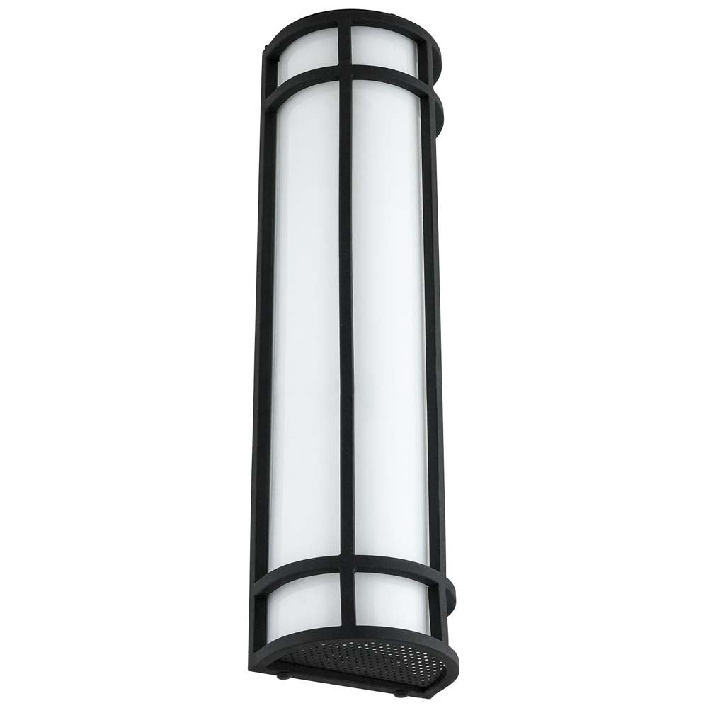Sunlite 81143-SU 23w LED Mission Style Wall Sconce Black 50K Super White 24 Inch