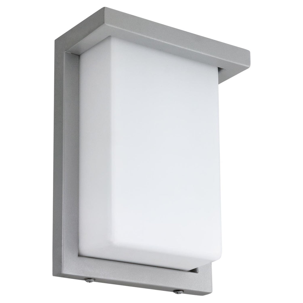 "SUNLITE 8"" 12w Rectangle LED Wall Sconce Fixture 3000K-Warm White Silver Finish"