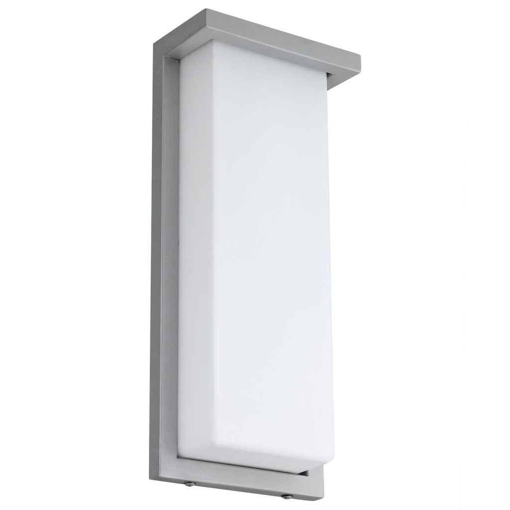 "SUNLITE 12"" 20w Rectangle LED Wall Sconce Fixture 4000K Cool White Silver Finish"