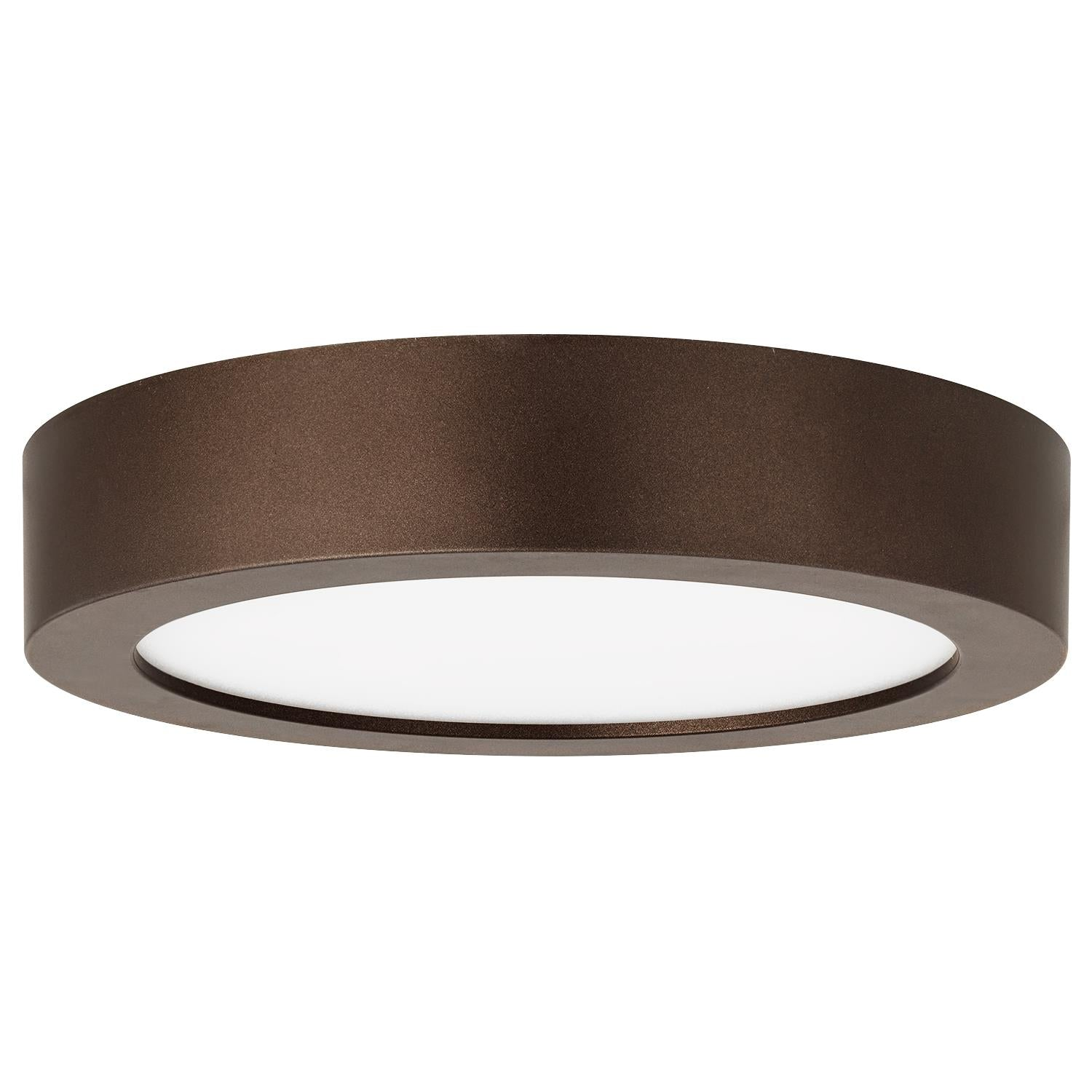 SUNLITE 5.5in. Round LED Mini Flat Fixture 600Lm 3000K Warm White Bronze Finish
