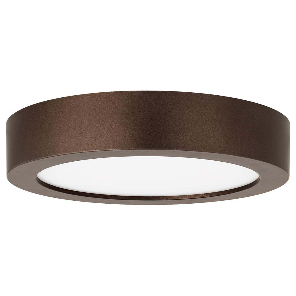 "Sunlite 81271-SU 5.5"" LED Round Surface Mount Fixture Bronze Cool White 4000k"