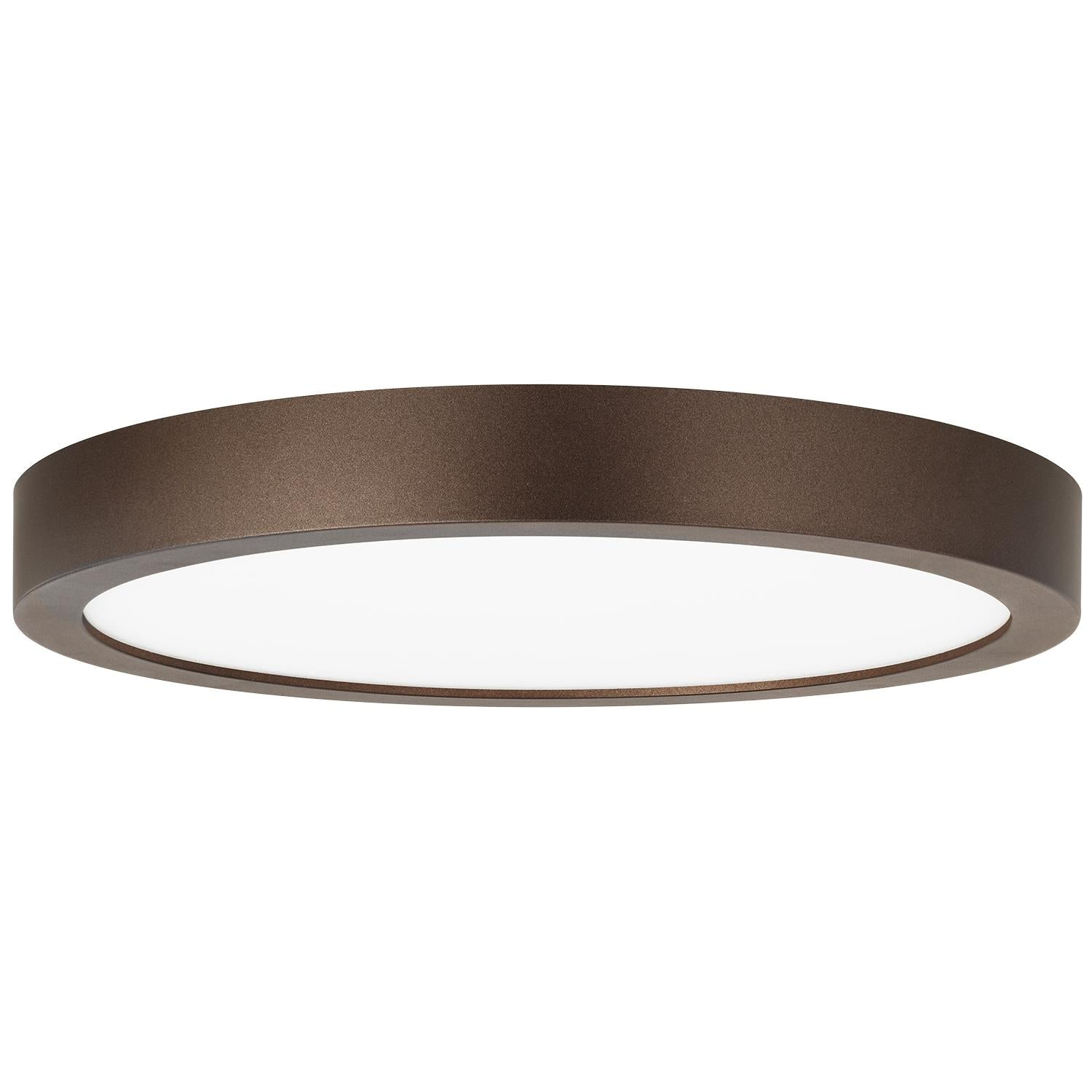 Sunlite 9in. Round LED Mini Flat Panel Fixture, 3000K - Warm White, Bronze Finish