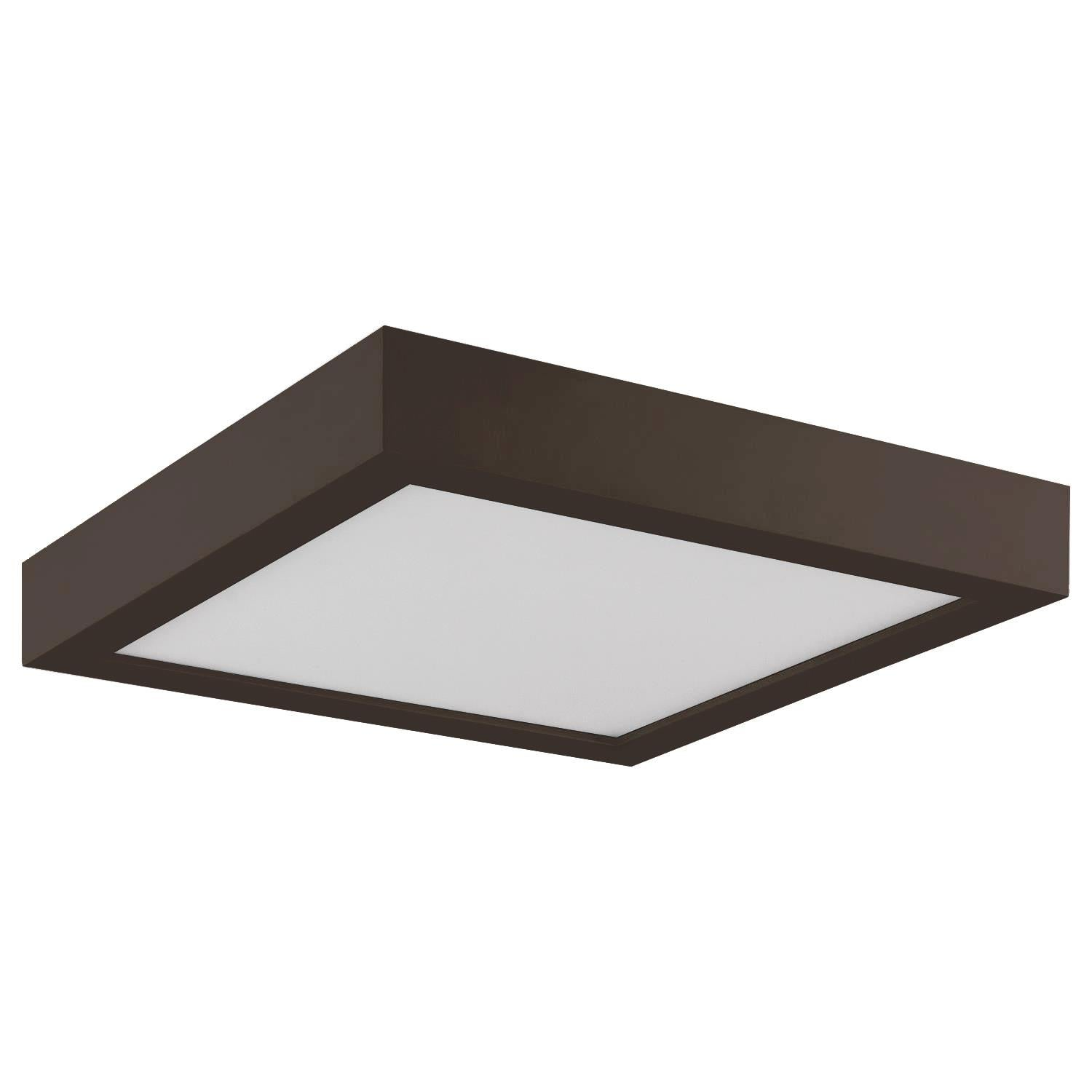 Sunlite 9in. Square LED Mini Flat Panel Fixture, 3000K - Warm White, Bronze Finish