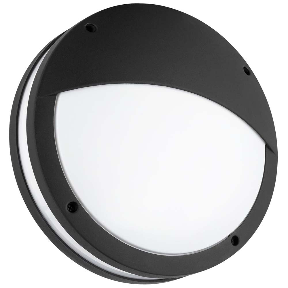 Sunlite 81308-SU 120w Round Decorative Fixture Textured Black Warm White 3000K