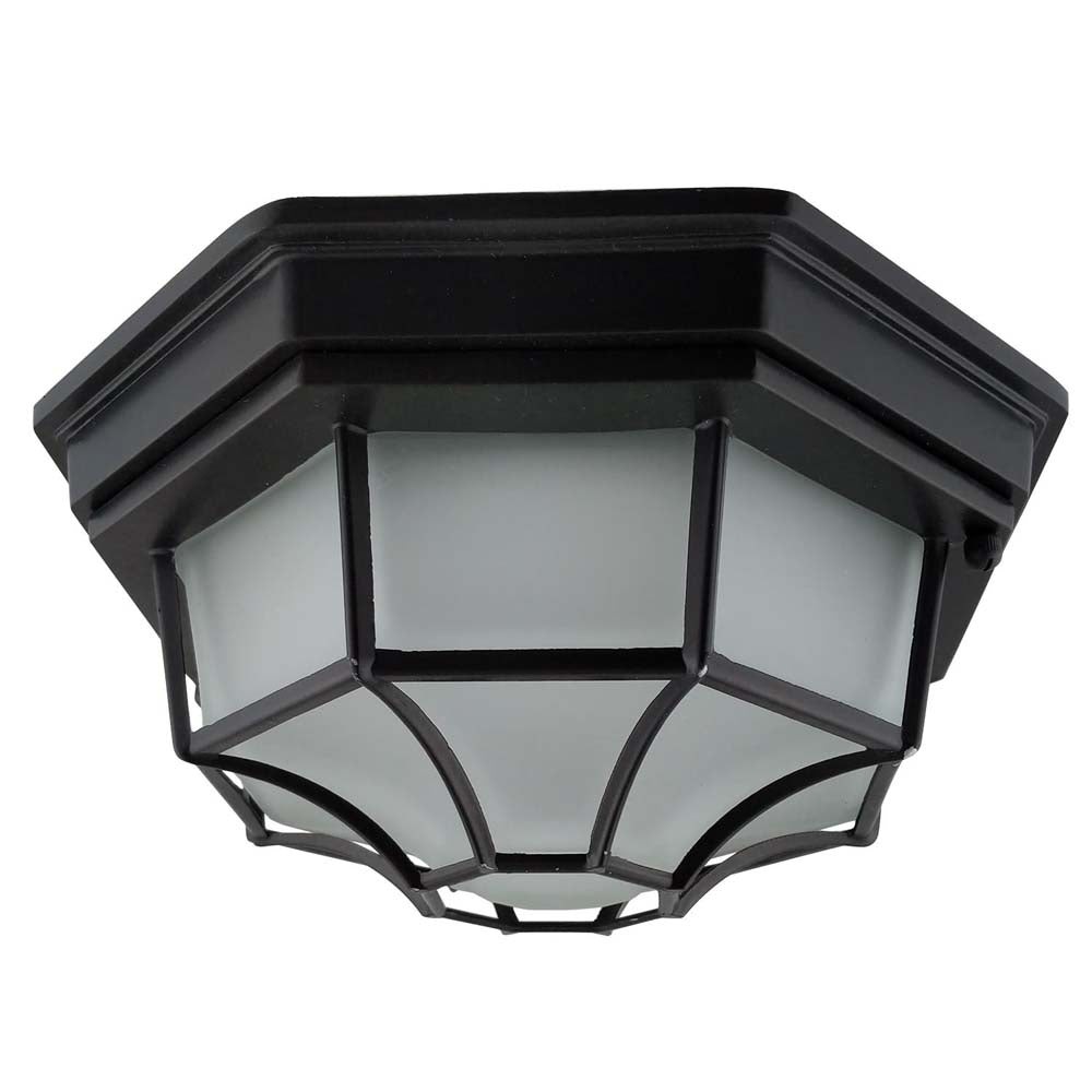 "Sunlite 81314-SU 17w 12"" Round Decorative Matt Black Warm White 3000K"
