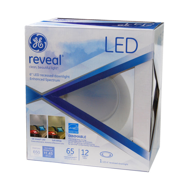 Ge Reveal Led 12w 65w Equiv 6 Inch Recessed Downlight