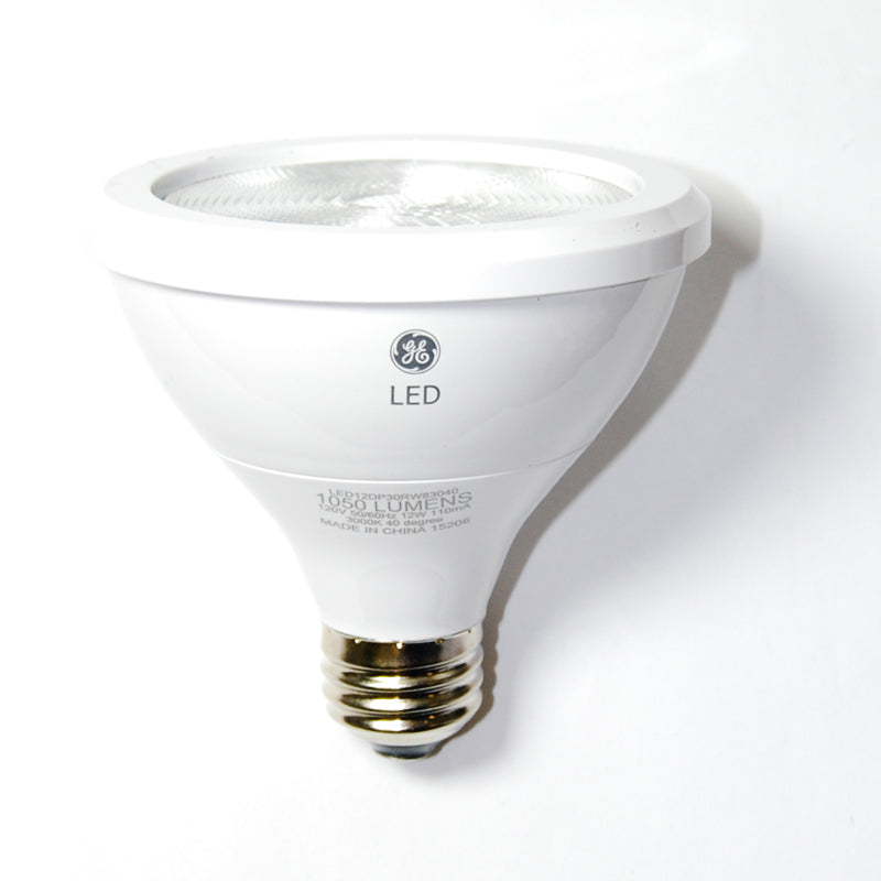 GE 12w PAR30 Dimmable LED Narrow Flood 900Lm Soft White lamp