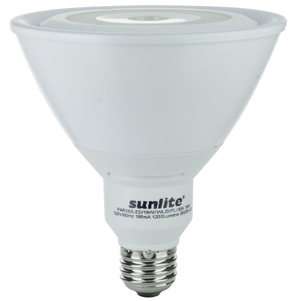 SUNLITE 88063-SU LED PAR38 Reflector Outdoor Series 19w Light Bulb Warm White