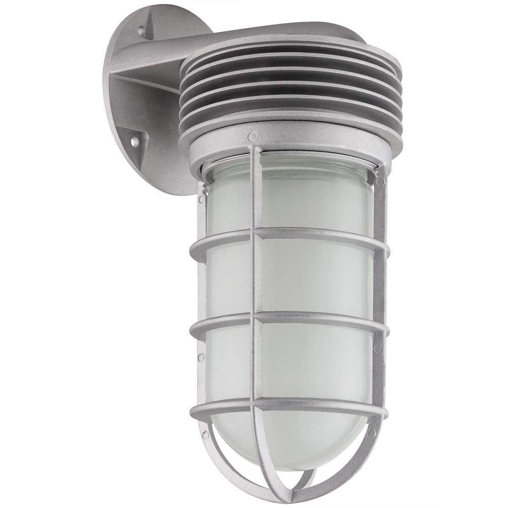Sunlite 88141-SU LED Vapor Proof Jar Wall Fixture grey Super White 5000k
