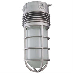 Sunlite 88148-SU 12w LED Vapor Proof Jar Ceiling Fixture grey Super White 5000k