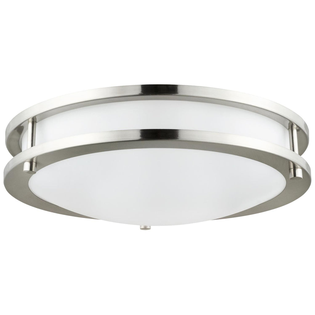 "Sunlite 88315-SU 12"" LED Double Band Ceiling Fixture in Brushed Nickel 4000k"