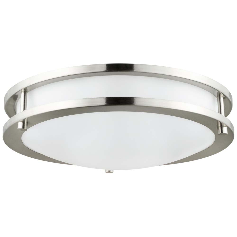Sunlite 88316-SU LED Flush Mount Fixture Brushed Nickel Super White 5000k