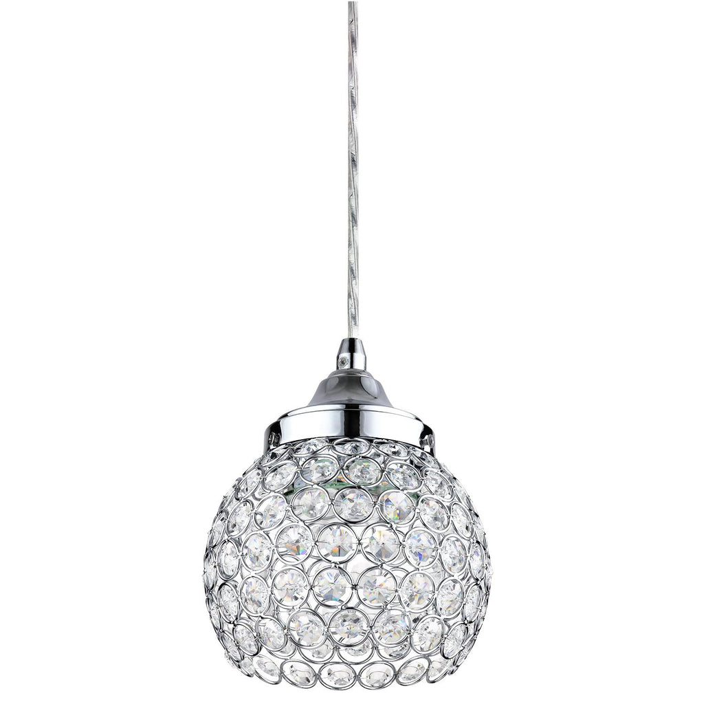 SUNLITE 7in 9w Decorative Crystal Pendant Light Fixture - 3000K