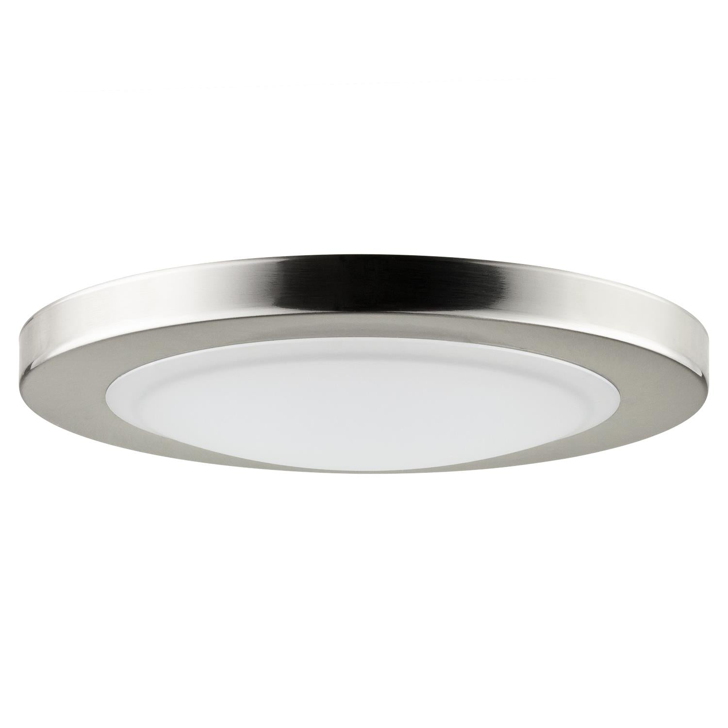 SUNLITE 15w Mini Dome Ceiling Light Fixture in Brushed Nickel - 4000K