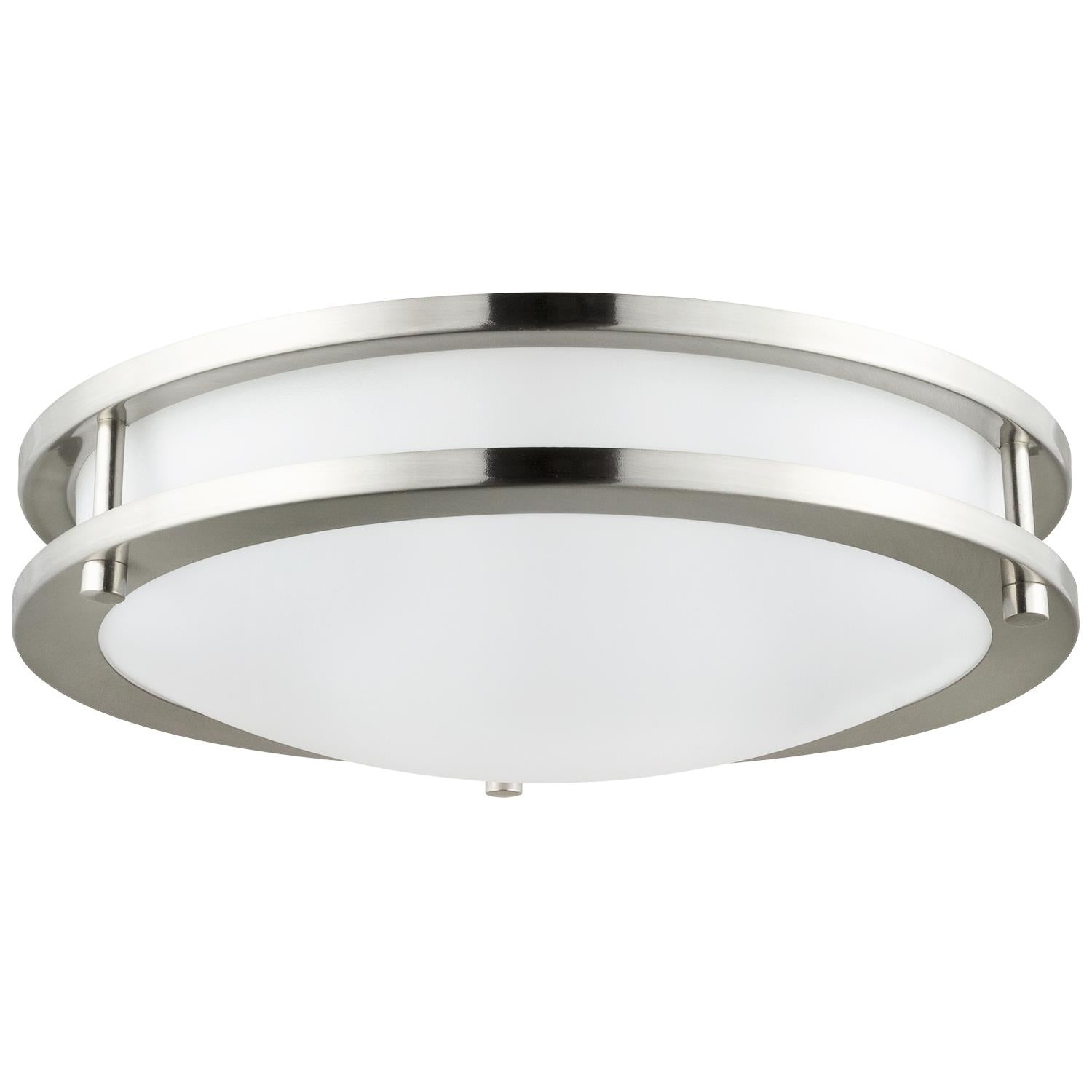 "Sunlite 88357-SU 10"" LED Double Band Ceiling Fixture in Brushed Nickel 4000k"