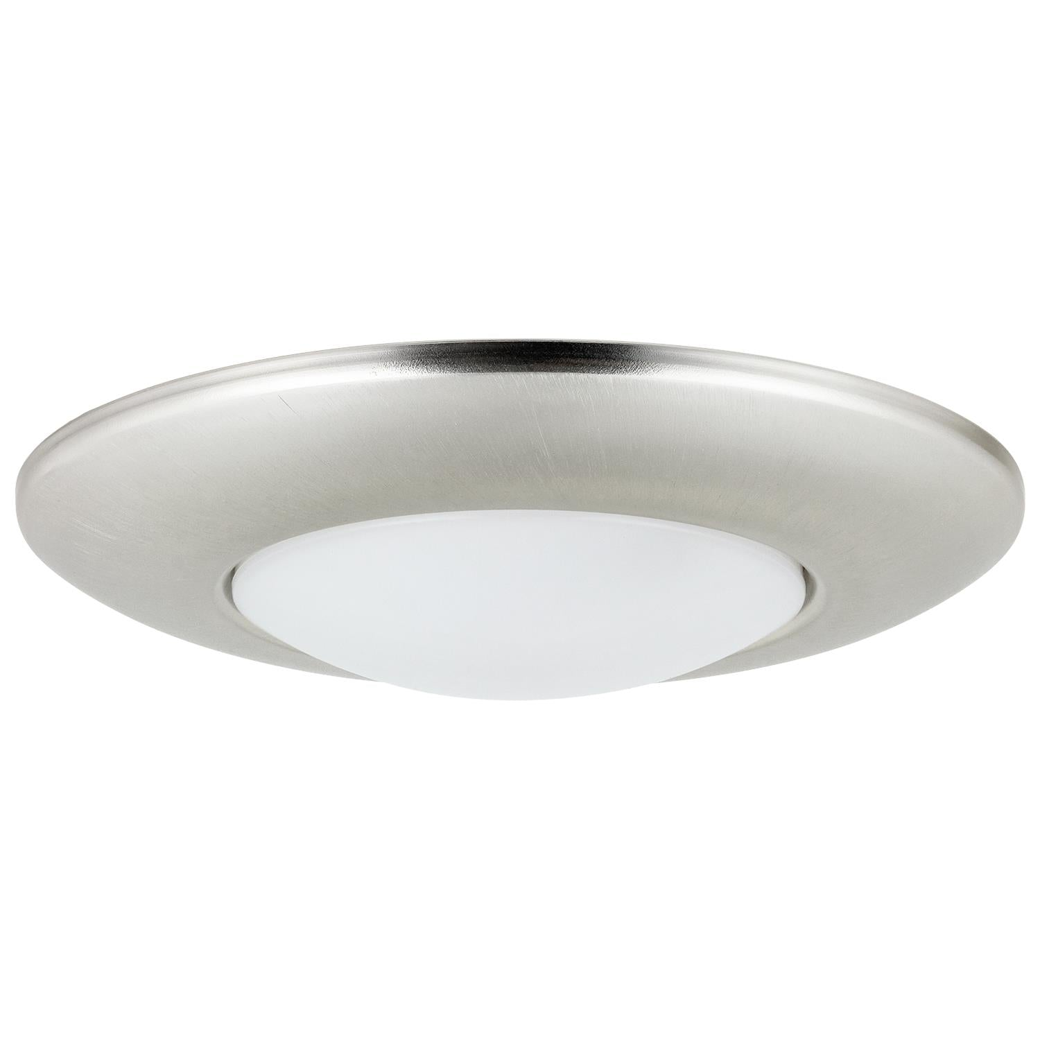 SUNLITE LED 7.5in Brushed Nickel Mini Disc Round Flush Mount Lighting