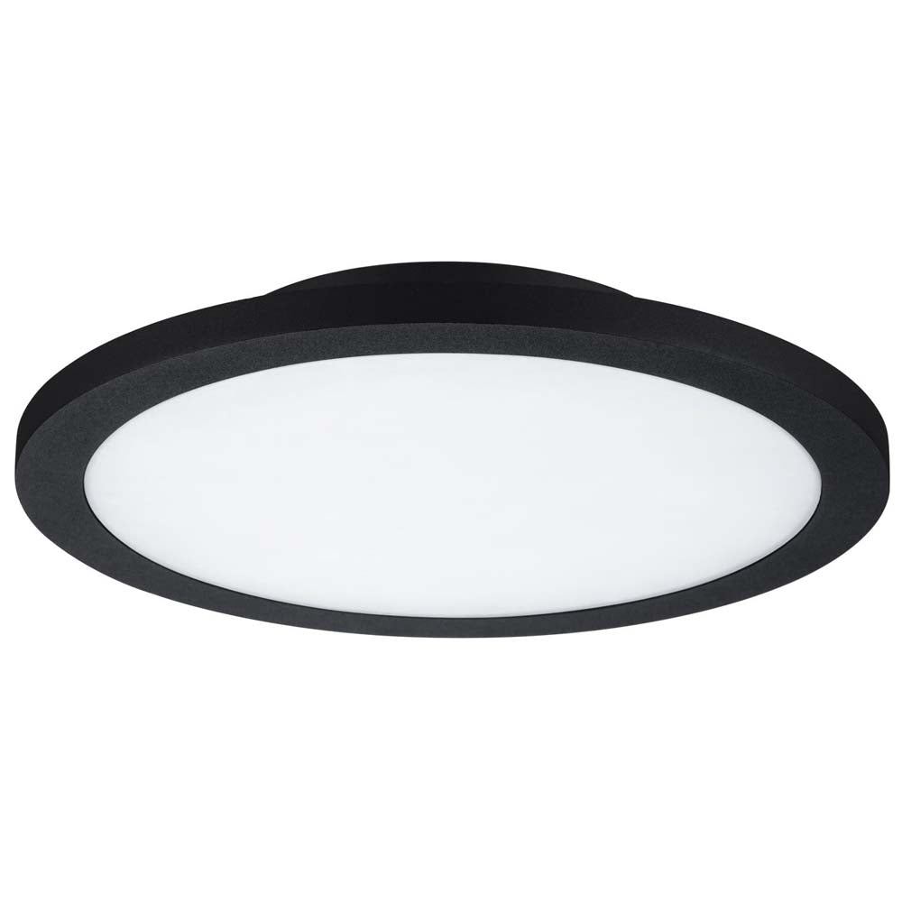 Sunlite 88660-SU 15w Round Fixture 3000K Warm White Black/grey/White
