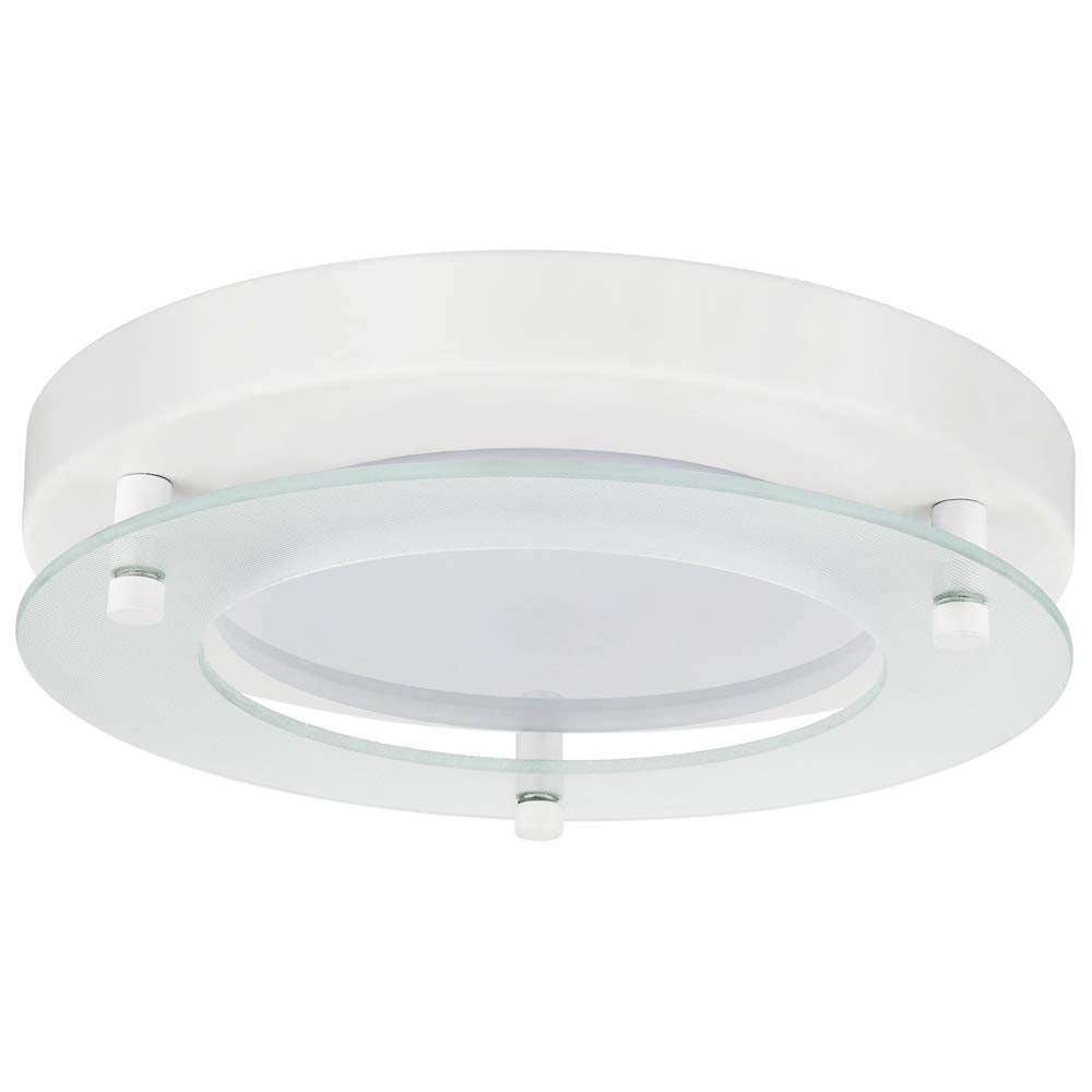 "2Pk - Sunlite 17 watts 8"" Round LED Solid Band Fixture 3000K White Finish 120v"