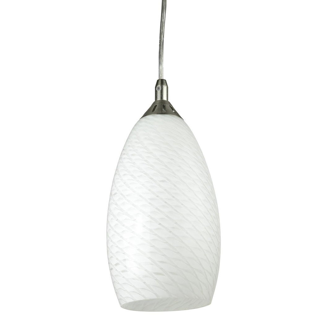 SUNLITE 88718-SU 9W Antarctica Style LED Glass Decorative Pendants Light - 3000K
