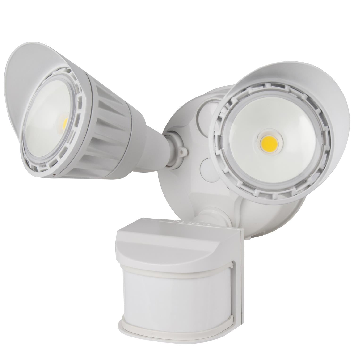 SUNLITE 20W LED Dual Head Security Light with Motion Sensor and Photocell White 3000K Warm White