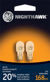 GE W5W 168 5w 14v Nighthawk Wedge Base Miniature lamp - 2 bulbs