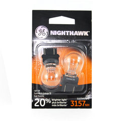 2 Bulbs - GE 89244 3157 NH 27w 12.8v S8 C-6 Nighthawk Long Life Automotive Lamp