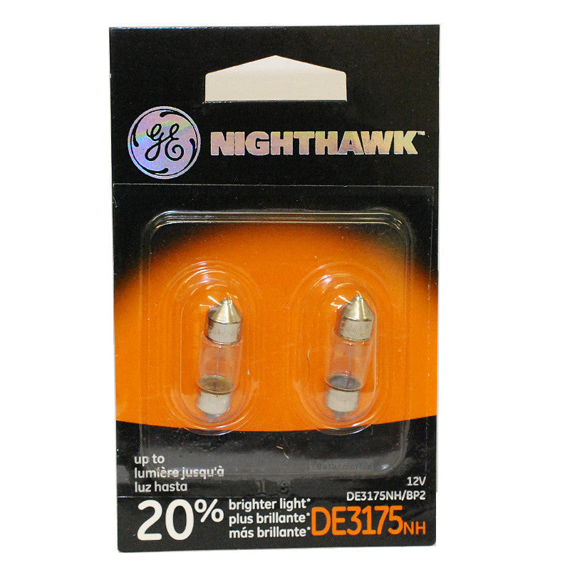 GE DE3175 NH - NightHawk 10w 13v Automotive Lamp - 2 Bulbs