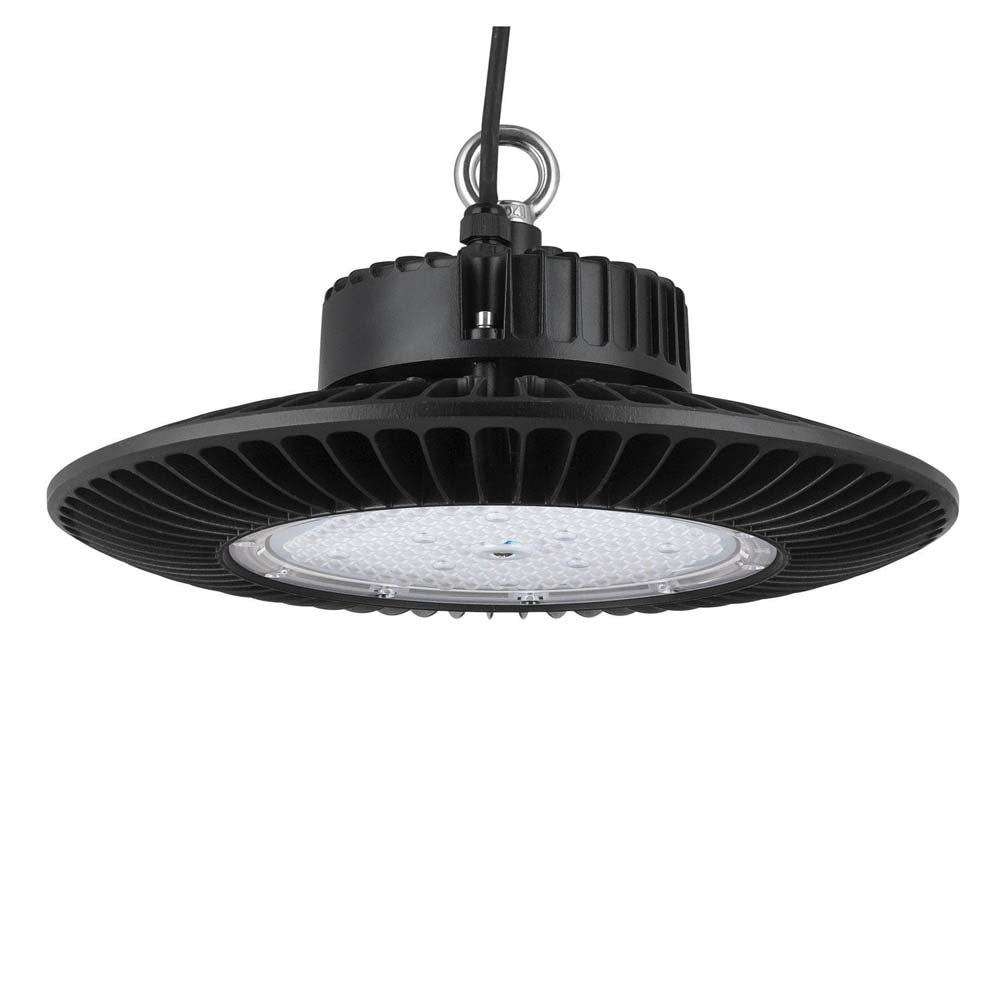 Sunlite 89596-SU 150w Round High Bay Fixture 5000k Super White Black