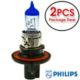 Philips H13 9008 Crystal Vision Ultra Blue Low and High Beam Headlamp - 2 Bulbs - BulbAmerica