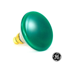 GE 85w PAR38 85WM 120v Green Light Bulb
