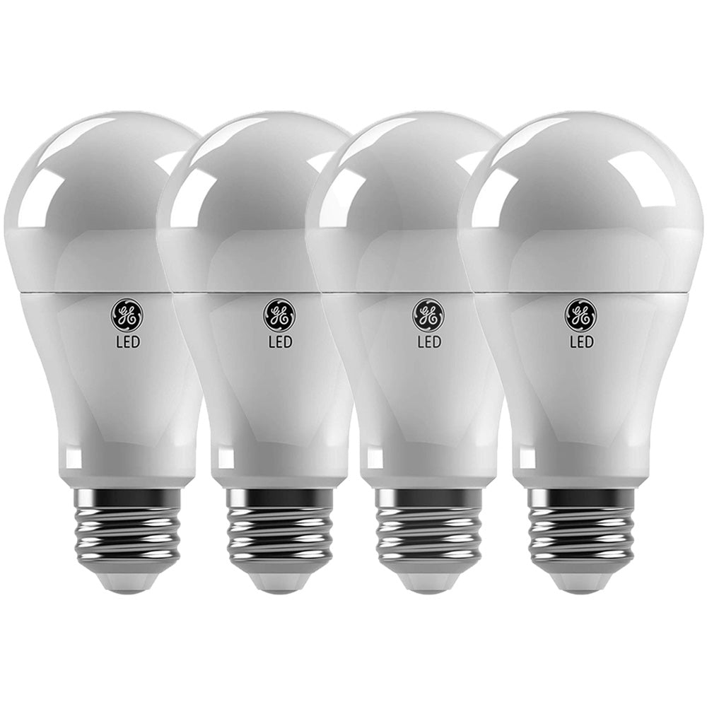 4Pk - GE 10W A19 LED Soft White 2700K Non-Dimmable Bulb - 60w Equiv.
