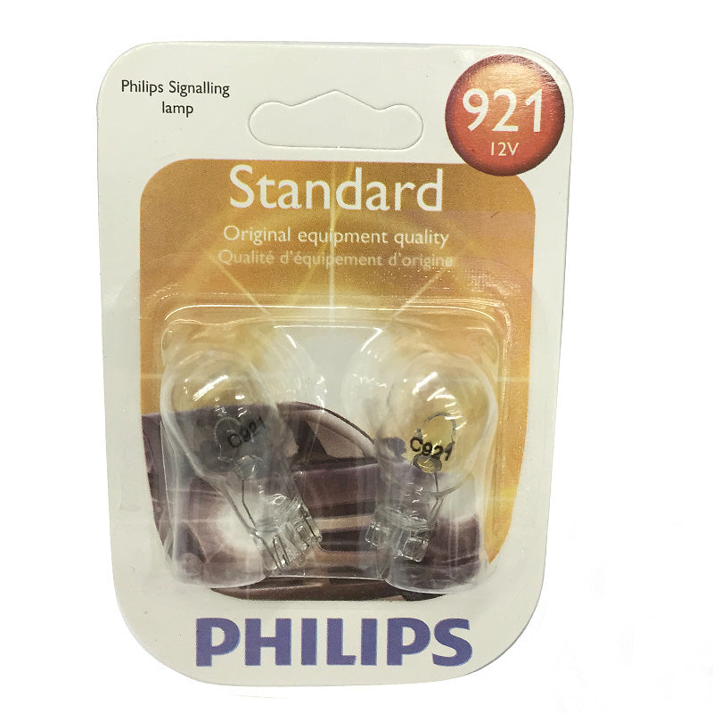 Philips  921 - 18w 12.8v Miniature Wedge Automotive Lamp - 2 Bulb