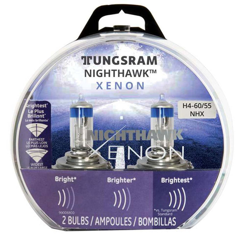 2Pk - Tungsram H4-60NH Nighthawk Xenon head lamps Automotive Bulb