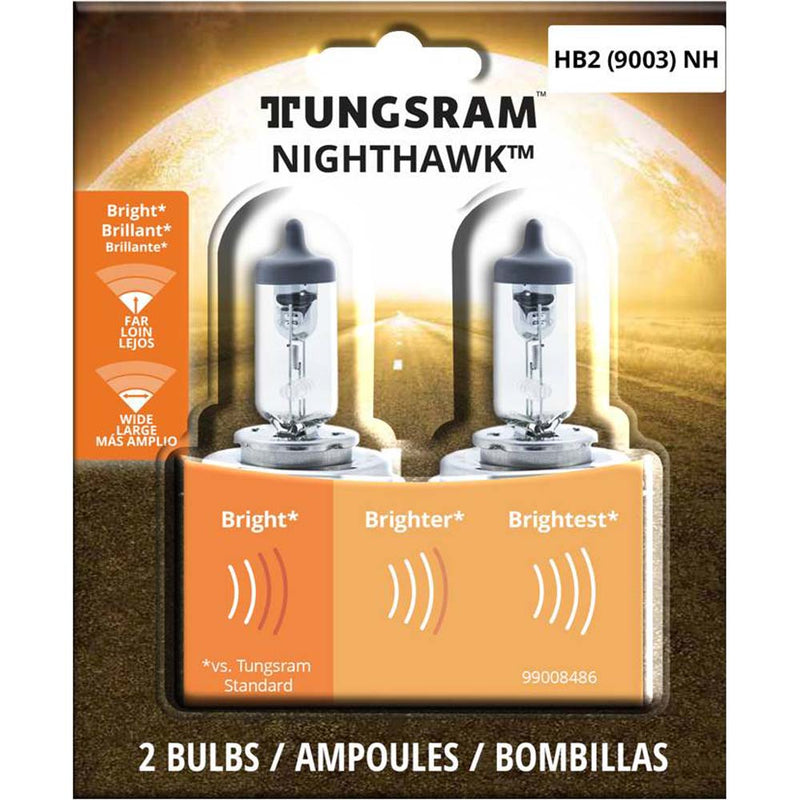 2Pk - Tungsram 9003NH Nighthawk head lamps Automotive Bulb