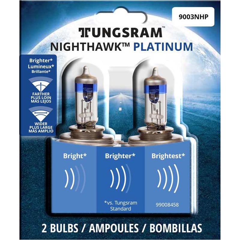 2Pk - Tungsram 9003NHP Nighthawk Platinum head lamps Automotive Bulb