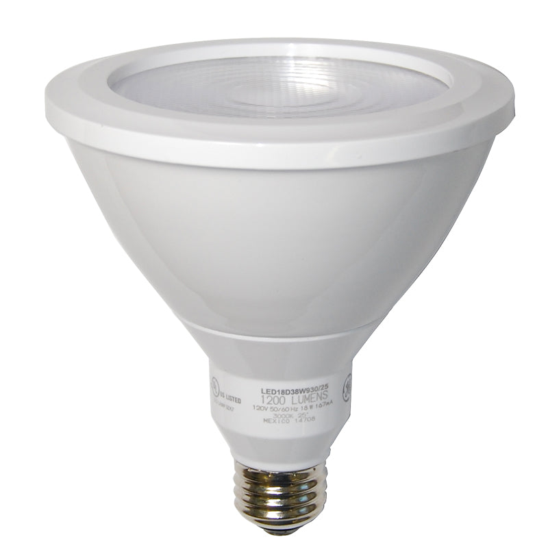 GE 18w PAR38 LED 3000k 1200Lm Narrow Flood Dimmable Light Bulb