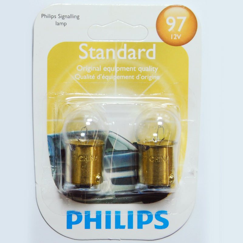 2 Pack - Philips 97 9.3w 13.5v G6 Automotive Bulb