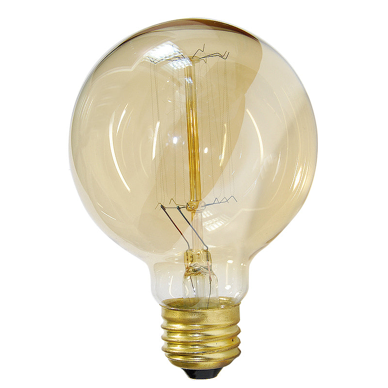 Globe G30 40w Antique Vintage Style 3.3in Diameter Squirrel Cage filament bulb