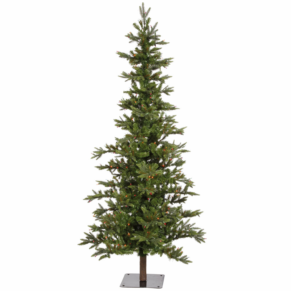 Vickerman 7Ft. Green 948 Tips Christmas Tree 350 Multi-color Dura-Lit