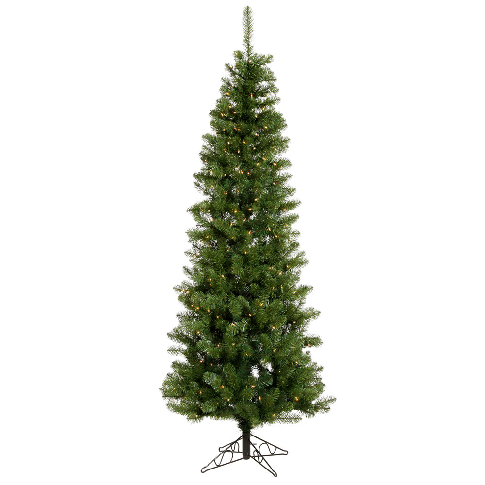 Vickerman 8.5Ft. Green 877 Tips Christmas Tree 400 Warm White Wide Angle LED