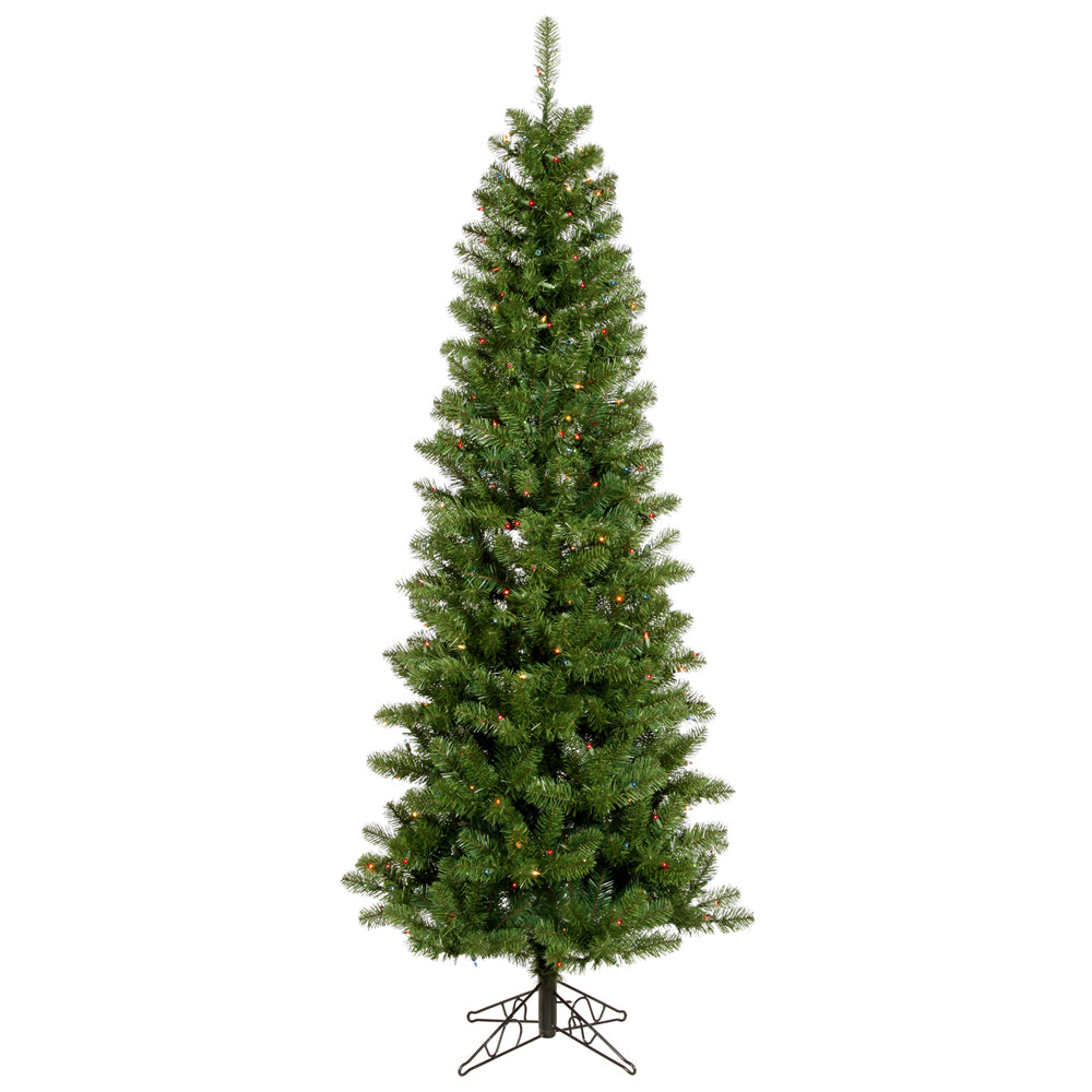 Vickerman 5.5Ft. Green 343 Tips Christmas Tree 200 Multi-color Dura-Lit