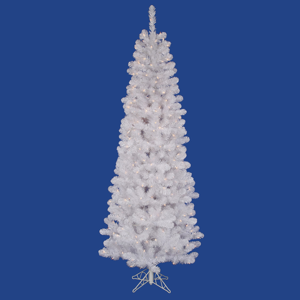 Vickerman 8.5Ft. White 877 Tips Christmas Tree 450 Clear Dura-Lit Lights