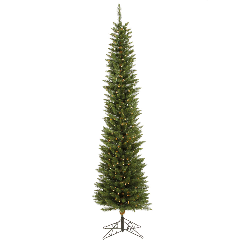 Vickerman 8.5ft x 28in Green 1204 Tips Christmas Tree 400 Clear Dura-Lit