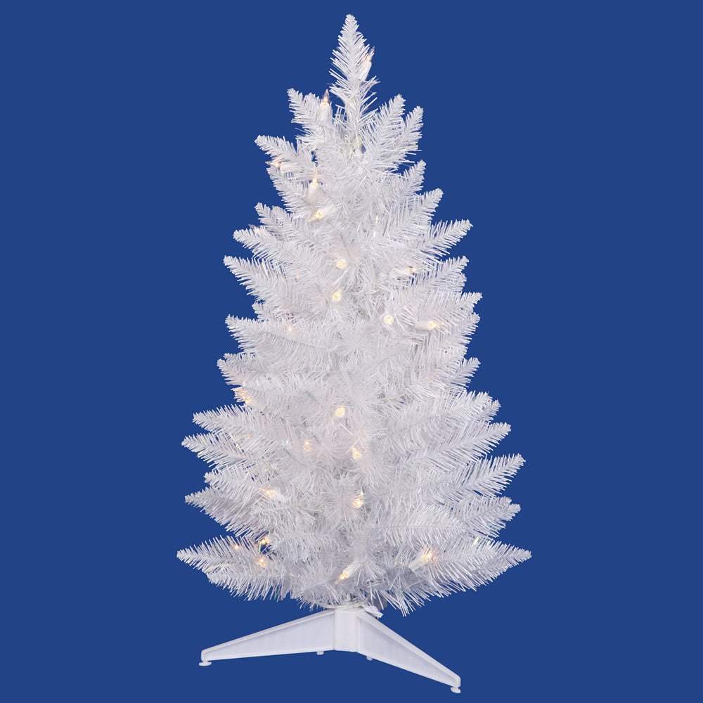 Vickerman 30in. Sparkle White 100 Tips Christmas Tree 50 Pure White LED Lights