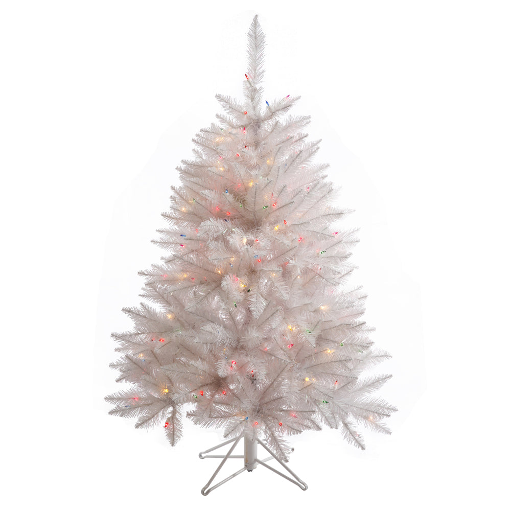 Vickerman 4.5Ft. Sparkle White 421Tips Christmas Tree 200 Multi-color LED Lights